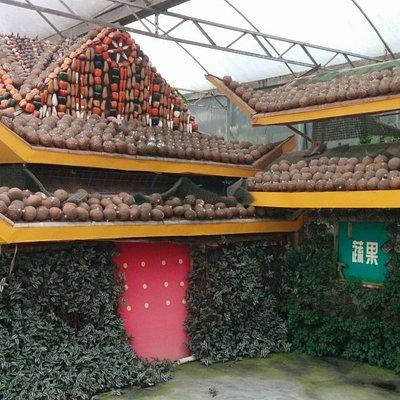 Tiananmen vegetable style!