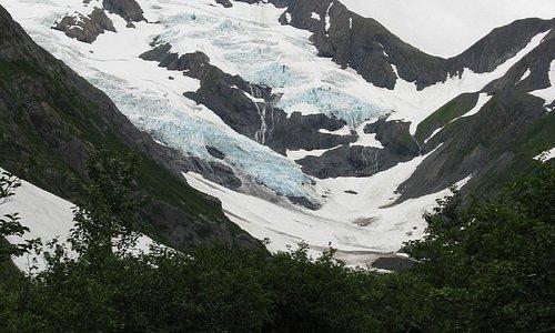 Arriving at Byron Glacier