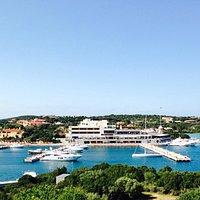 Vista della marina di porto cerco da stella Maris