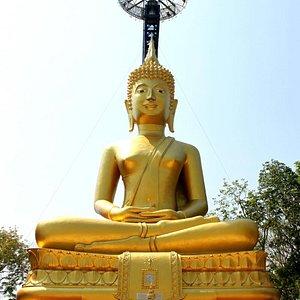 The golden Buddha.