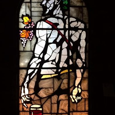 stain glass adds more than just wine making....
