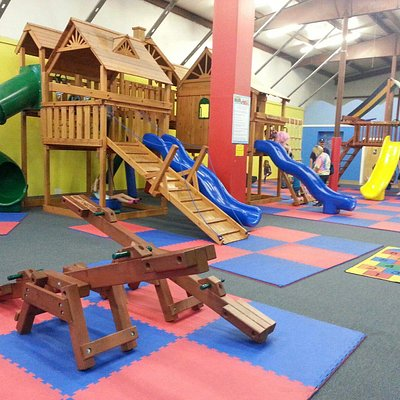 Indoor see-saws and playground equipment
