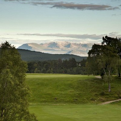 Cairngorms from the 7th tee