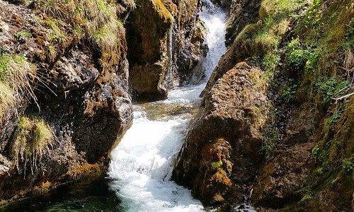 Wasserfall auf dem Weg zur Schwaigeralm