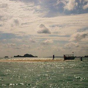 Pulau Pasir at low tide