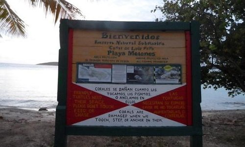welcome sign at melones beach