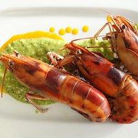 Crayfish with Green Goddess Sauce