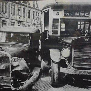 Colisão (foto exposta no museu dos transportes públicos)