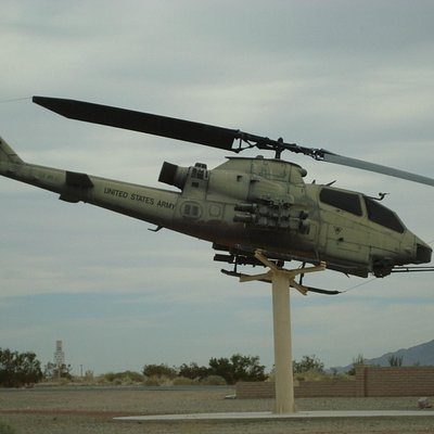 You know you're close when you see an attack helicopter on a stick!