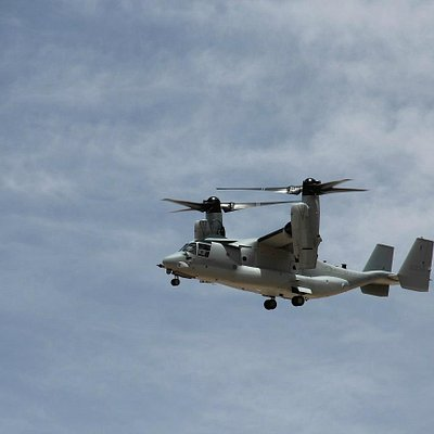 Not at the museum but a V22 Osprey we saw landing whilst there.