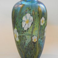 A special vase made for one of the Friend`s Opendays at Station Glass