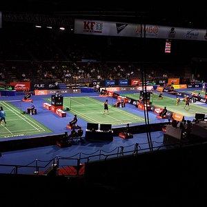 Badminton layout