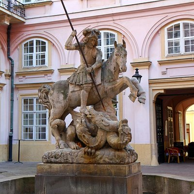 St. George slaying the dragon fountain
