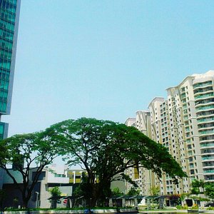 Breathtaking view from the back entry of Orion mall ..