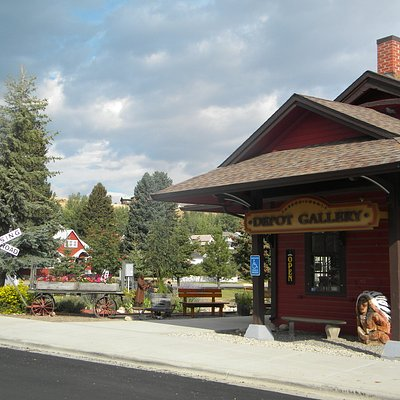 Gallery is housed in the Old Red Lodge Train Station