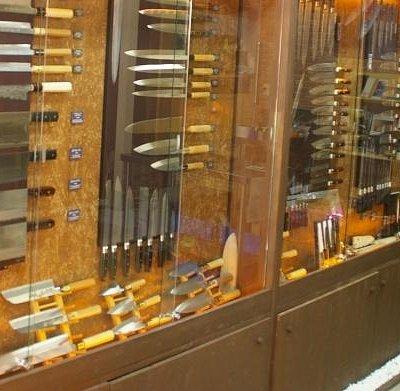 Broad range of Japan-made knives.