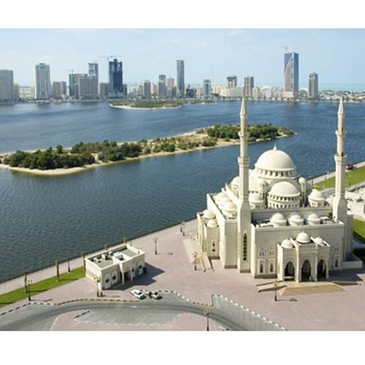 Al Noor Mosque Khaled Lagoon Sharjah