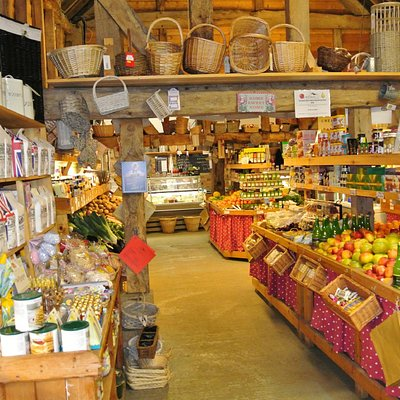 Farm Shop with lots of Fruits and Vegetables