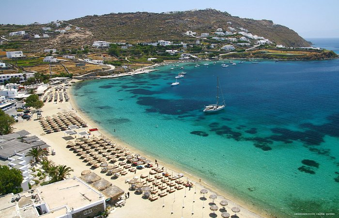 Ornos beach with its crystal clear waters!!