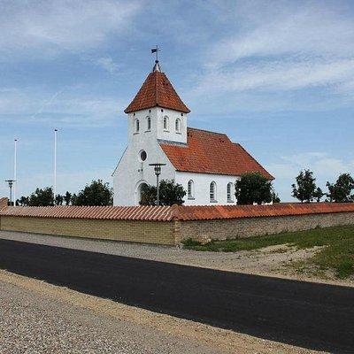 hjørne foto af kirken