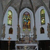 Eglise Saint-Sébastien, Mirepeïsset (Aude, Languedoc-Roussillon), France.