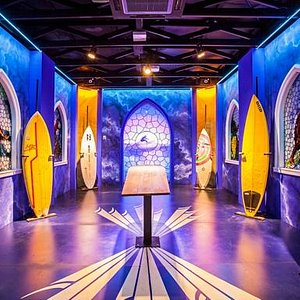 The Chapel tells the story of surf in Australia using vision, music and champion's boards