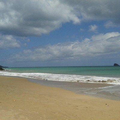 A beautiful, deserted beach.