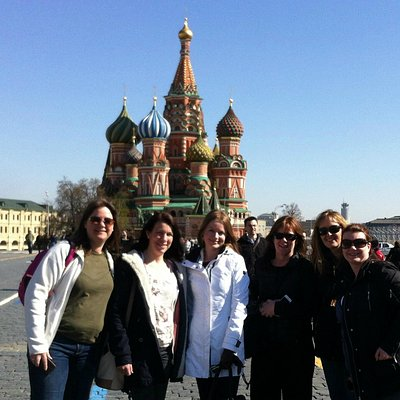 with Jodie and friends at Red Square, April 2014