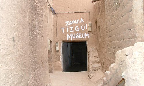 this is the entrance of the museum.the museum is inside of the old kasbah tizgui
