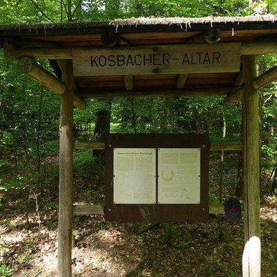 Schautafel am Kosbacher Altar