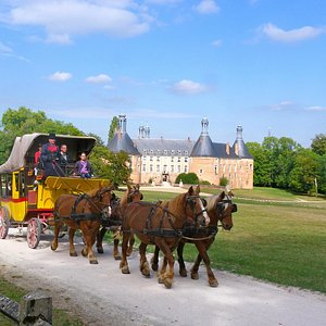 La Malle Poste dans le parc du château de Saint Fargeau