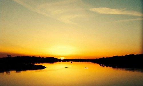 Stokken, solnedgang