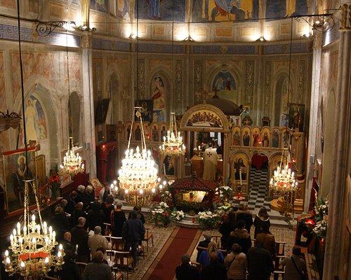 L'Église pendant la cérémonie de la veille pascale 2014.