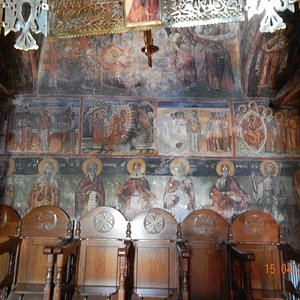 17'th centuries frescoes in the new Philosophou monastery