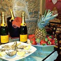 Champagne Ostriche Fragole