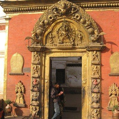 Golden Gate entrance to Taleju Temple