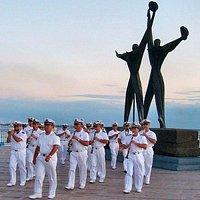 Durante una manifestazione della Banda della Marina Militare