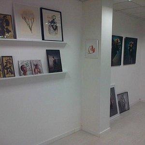 Exposición en la galería de arte