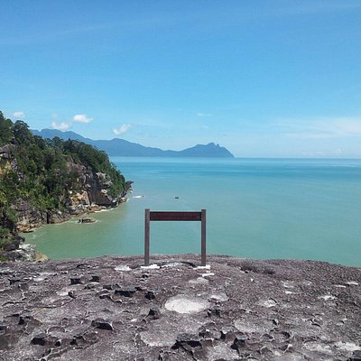 view from cliff at pandan kecil at boka