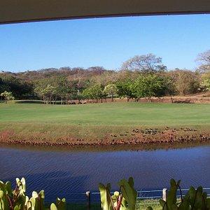 Beautiful fairway next to the pond.