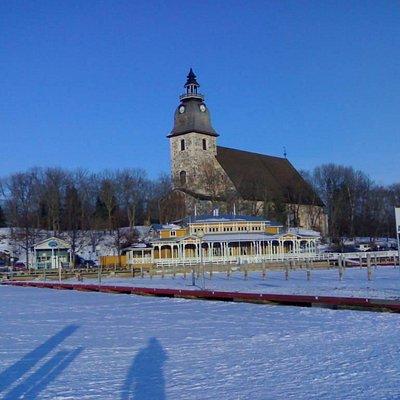 Church in wintertime