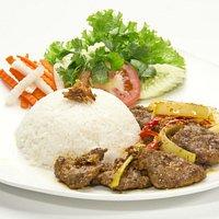 The famous Vietnamese broken rice