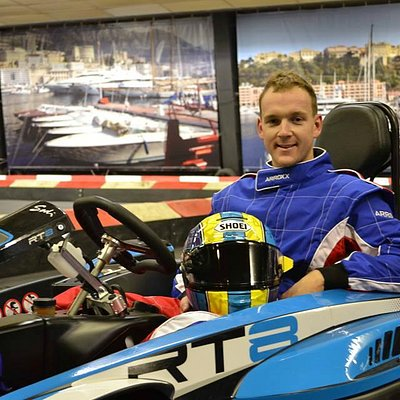British Superbike rider Dan Linfoot in one of our F1 270cc karts