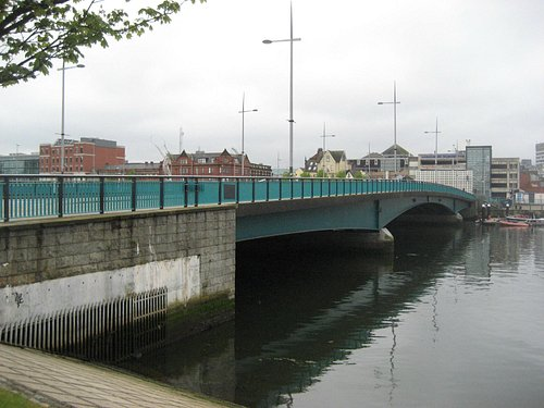 Towards Donegall Quay