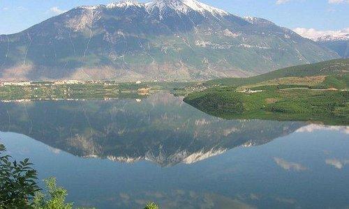 Gjallica mountain and the lake