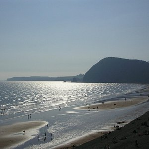 Sparkling Sea, taken from the Coast Path at Sidmouth
