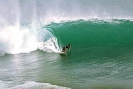 Sliding through Barrel Wave