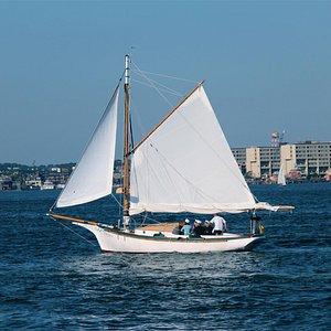 Sailing the Duchess on Boston Harbor
