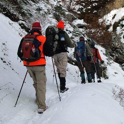 Snowshoeing Lagunillas