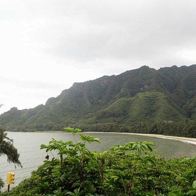 Kahana Bay from Kapa'ele'ele Ko'a Trail